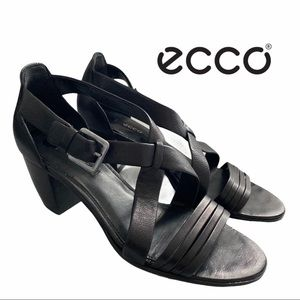 ECCO Strappy Leather Sandals Size 40 (9.5)